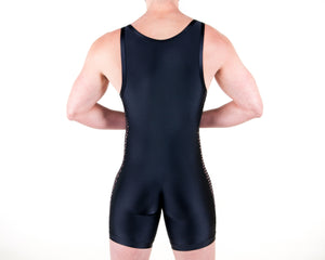 Diamond Black & Black Singlet - Bum-Chums Gay Men's Underwear - Made in UK