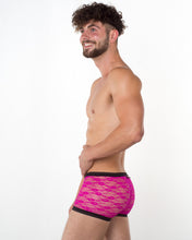 Men's Pink Lace Hipster - Bum-Chums Gay Men's Underwear - Made in UK