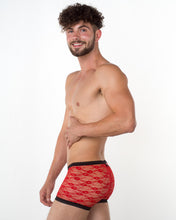 Men's Red Lace Hipster - Bum-Chums Gay Men's Underwear - Made in UK