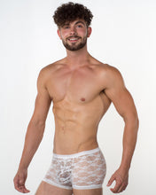 Men's White Lace Hipster - Bum-Chums Gay Men's Underwear - Made in UK