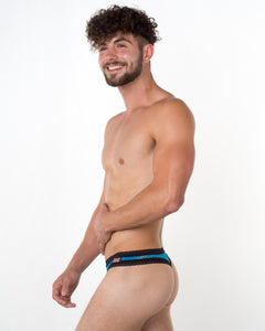 Men's Turquoise Lace Thong - Bum-Chums Gay Men's Underwear - Made in UK