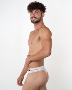 Men's White Lace Thong - Bum-Chums Gay Men's Underwear - Made in UK