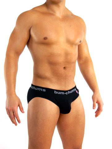 Classic Black Brief - Bum-Chums Gay Men's Underwear - Made in UK
