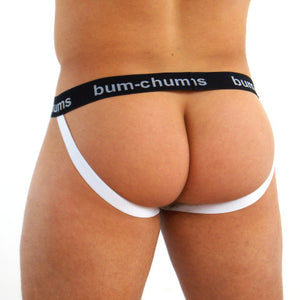 Classic White Jock - Bum-Chums Gay Men's Underwear - Made in UK