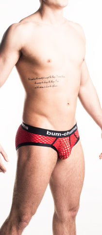 NutSack Red Brief - Bum-Chums Gay Men's Underwear - Made in UK