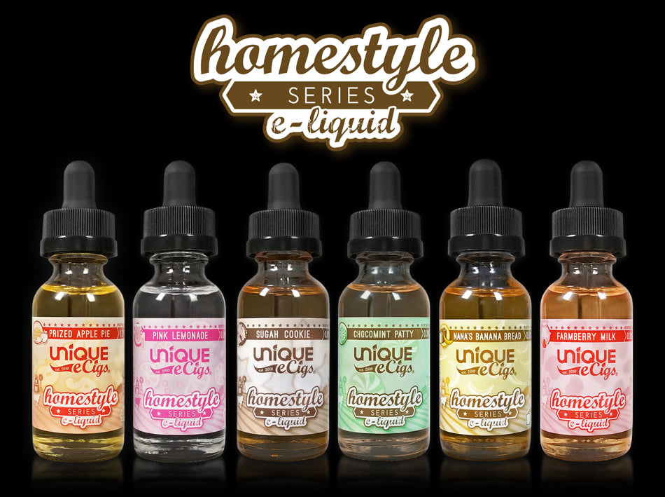 Unique eCigs Homestyle Series eLiquids Flavors