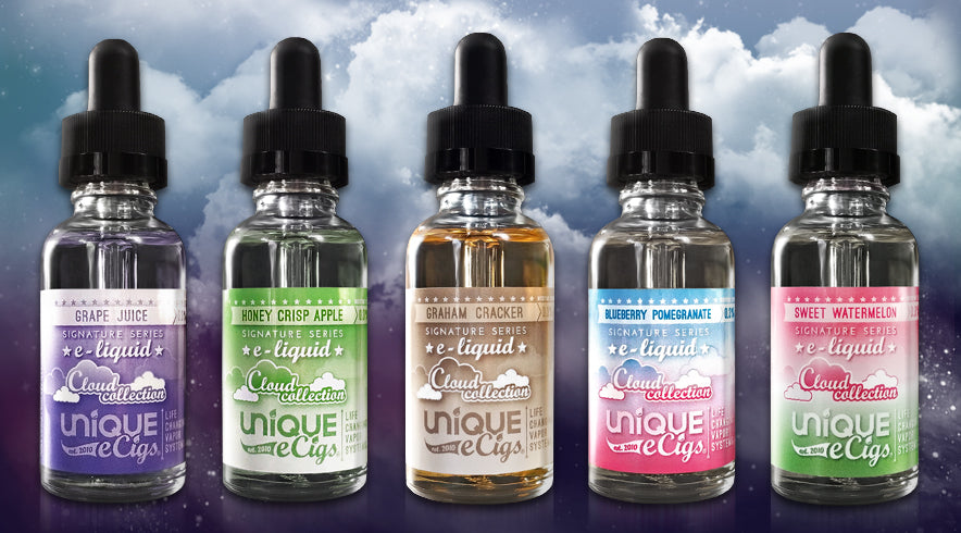 Unique eCigs Signature Series Cloud Collection 30/70 PG/VG