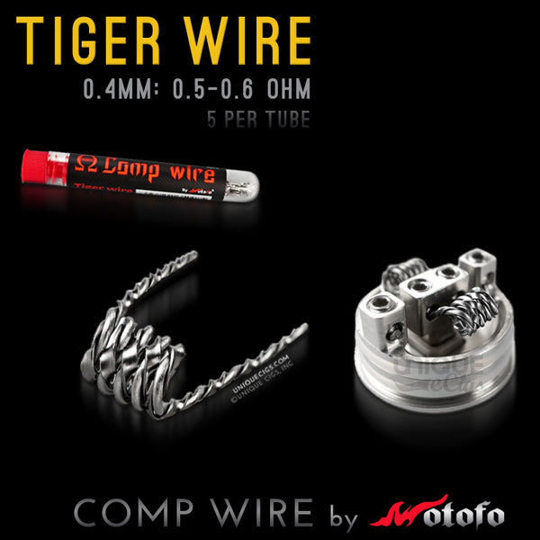 Unique eCigs TIGER Comp Wire Coil Wotofo Rebuildable