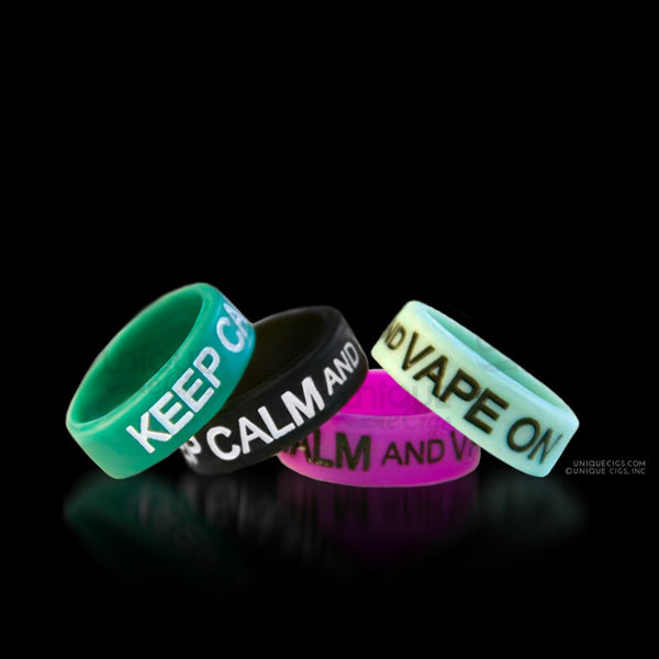 Unique eCigs Keep Calm Vape On BANDS Colors