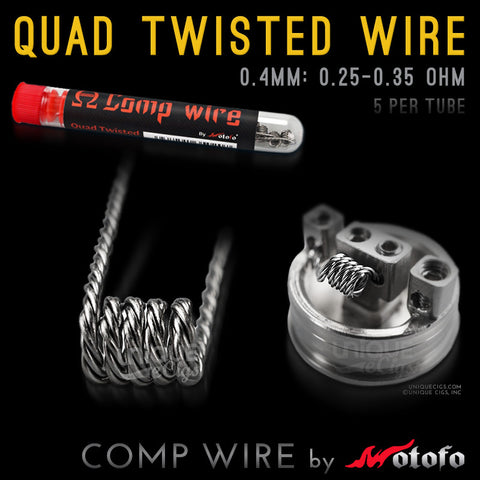 Unique eCigs QUAD TWISTED COMP WIRE Wotofo Rebuildable