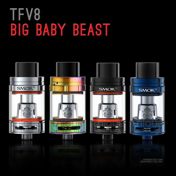 Unique_eCigs_TFV8_Big_Baby_Beast_Tank_Black_Silver_Blue_7Color
