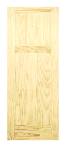 3 Panel Shaker Style Door