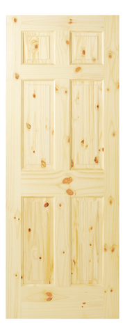6 Panel Knotty Pine Single Hip Door