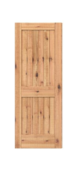 Delicieux 2 Panel Square Top V Groove (Knotty Alder)