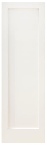 Single Lite Frosted Shaker Style French Door (Primed)