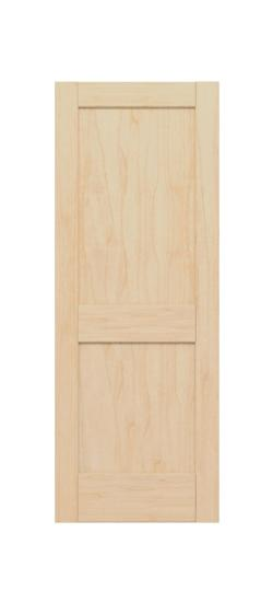 2 Panel Shaker Style (Maple)