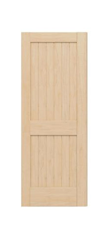2 Panel Square Top V Groove (Maple)