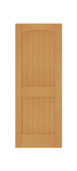 Charmant 2 Panel Arch Top V Groove (Red Oak)