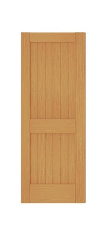 2 Panel Square Top V Groove (Red Oak)