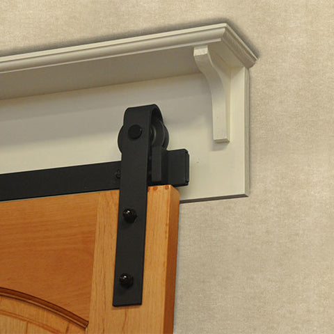 Shelved Barn Door Mounting Board