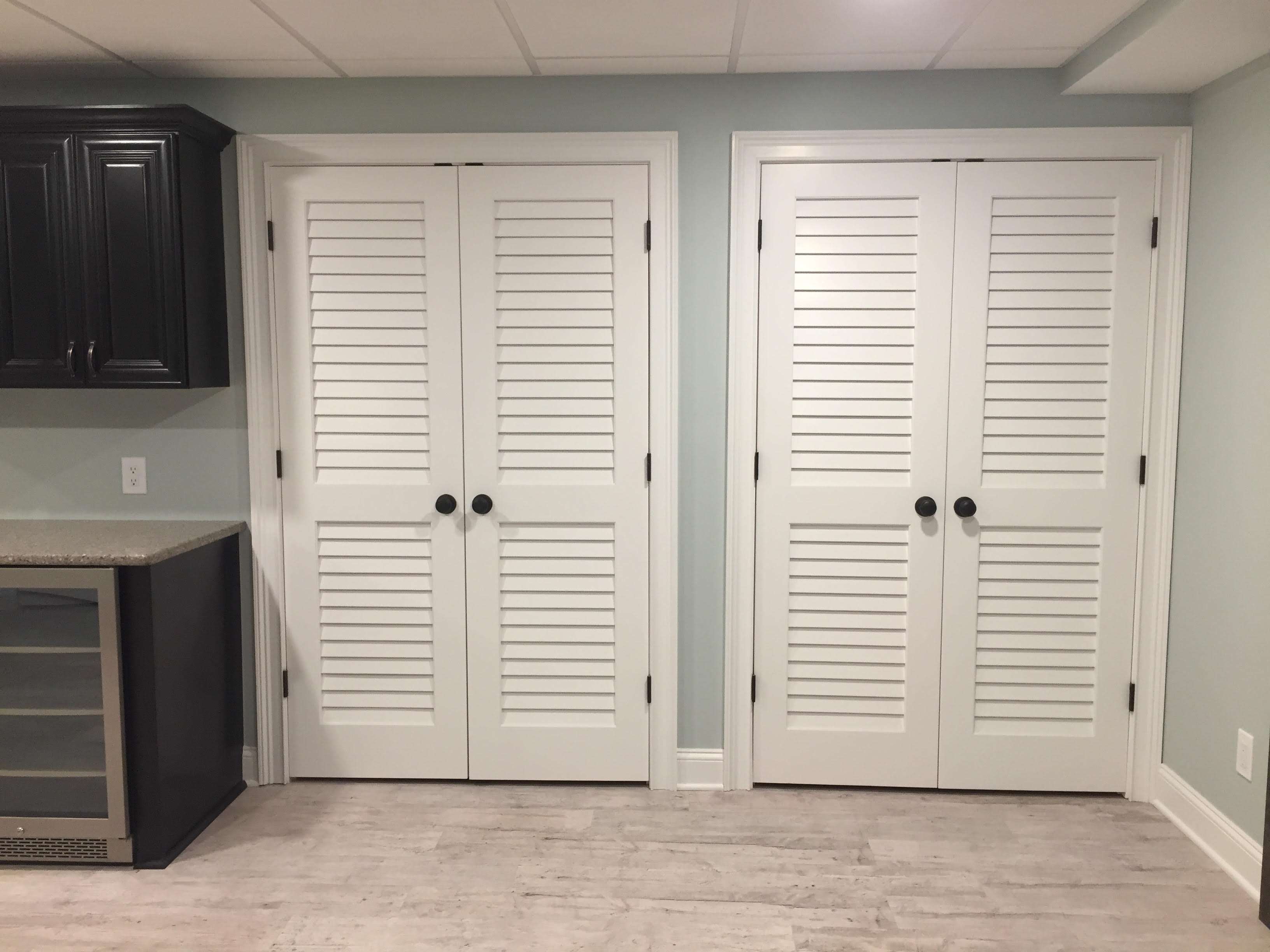 Primed 24 x 80 x 1.375 Plantation Louver//Louver Passage Door