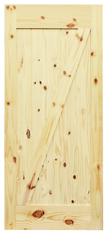Z-Brace V-Groove Knotty Pine Barn Door