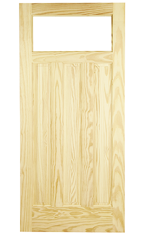 Single Lite Over 3 Vertical Panels Exterior Door