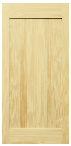 Single Panel Clear Pine Barn Door