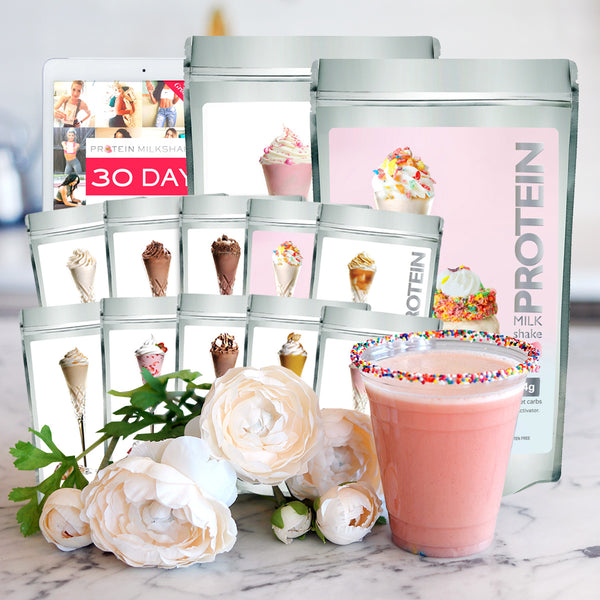 PRE-ORDER SHIPS WEEK OF NOV 15: Ice Cream For Cupcakes Weight Loss Bundle + 30 Day Transformation Diet & Workout Plan (LIMITED EDITION) - Protein Powder For Weight Loss
