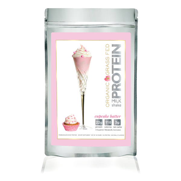 Protein Milkshake Organic Cupcake Batter Protein Powder | 1 Serving Sample