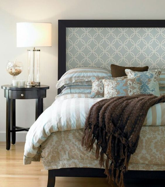 Wallpaper Headboard DIY