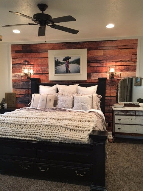 One Horse Lane Rustic Wood Farmhouse Mural