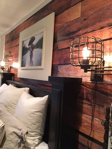 Rustic Reclaimed Wood Mural