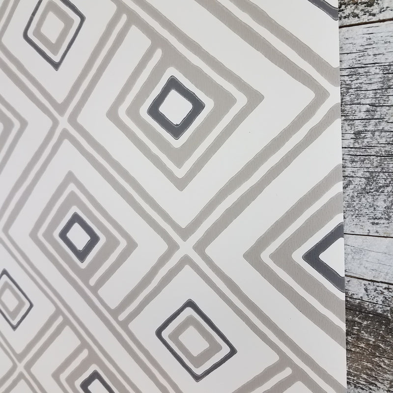 York Aztec Pattern Play Paradox Geometric Cream Taupe