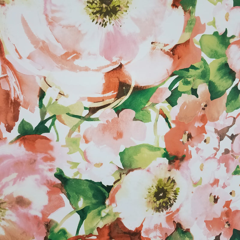 Carey Lind York Watercolor Poppy Floral Wallpaper