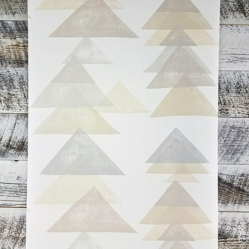 Boho Chic Contemporary Aztec Triangle Wallpaper