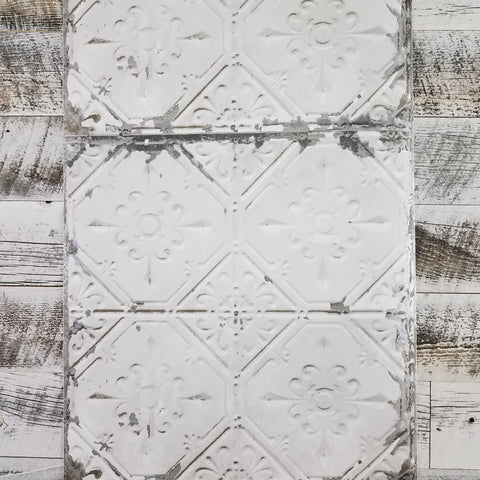 Wallpops Vintage White Tin Ceiling Tile Wallpaper NU2086