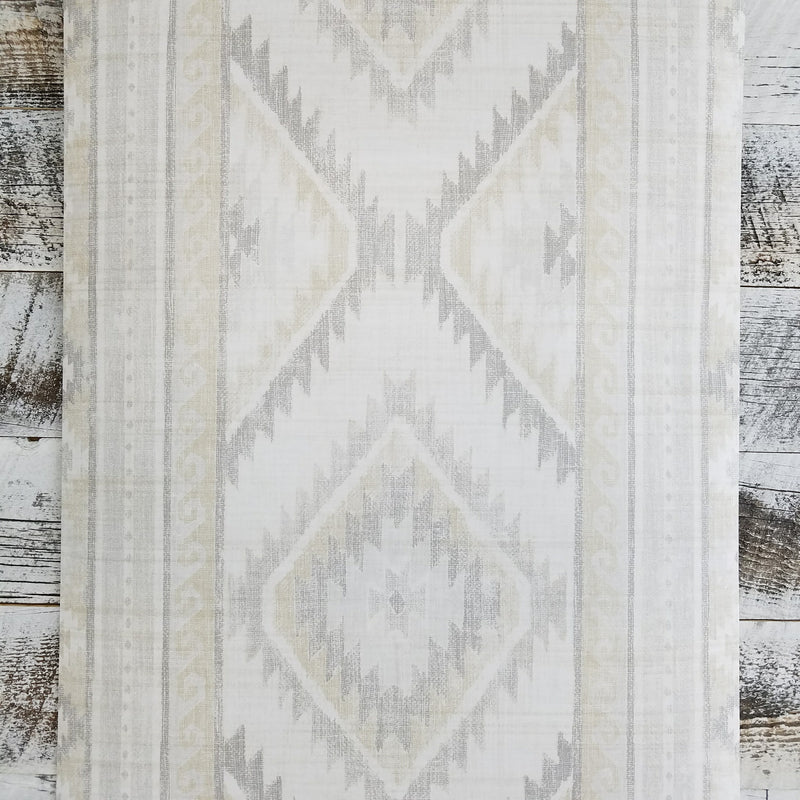 Global Style Navajo Boho Aztec Light Gray Wallpaper