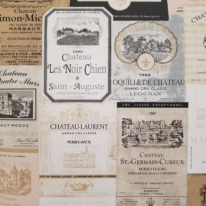 Norwall French Country Wine Labels Wallpaper