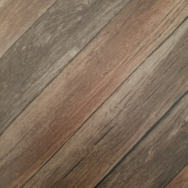 Chevron Wood Plank Parisian Brown Parquet Wallpaper