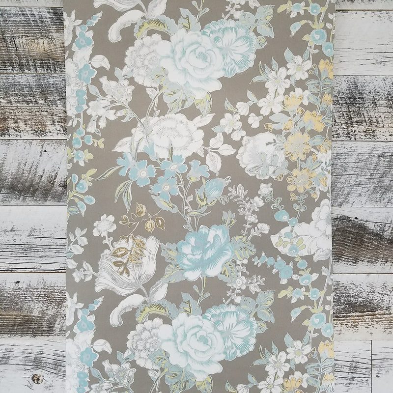 A Street Prints Ainsley Grey Boho Floral Kismet Collection