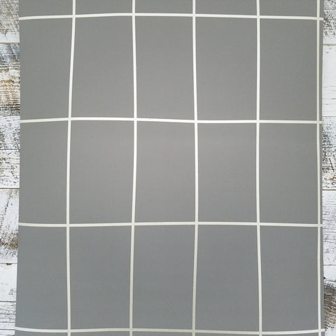 Off the Grid Geometric Metallic Silver Gray Wallpaper