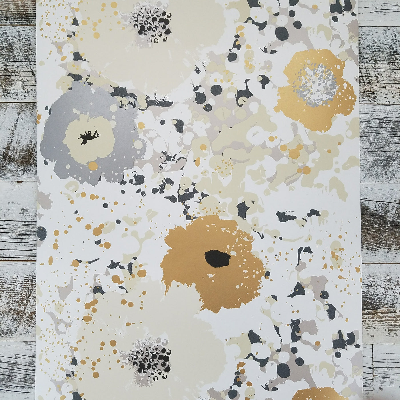 York Spontaneity Metallic Gold Silver Floral Wallpaper Ce4011
