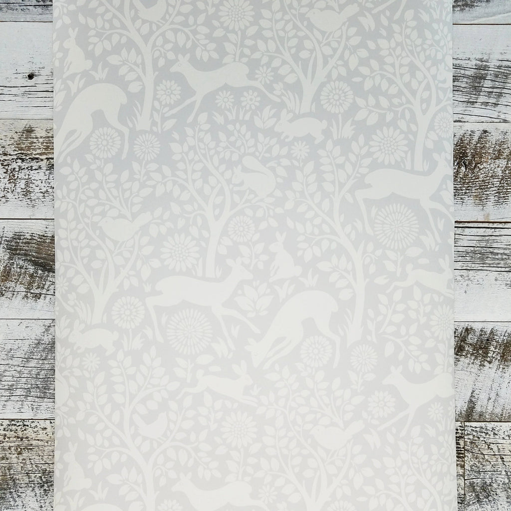 Brewster Anahi Light Grey Woodland Fauna Animal Wallpaper