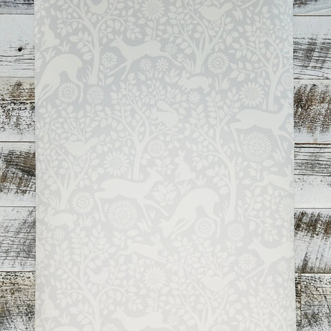 Brewster Anahi Light Grey Woodland Fauna Animal Wallpaper | HAS01232