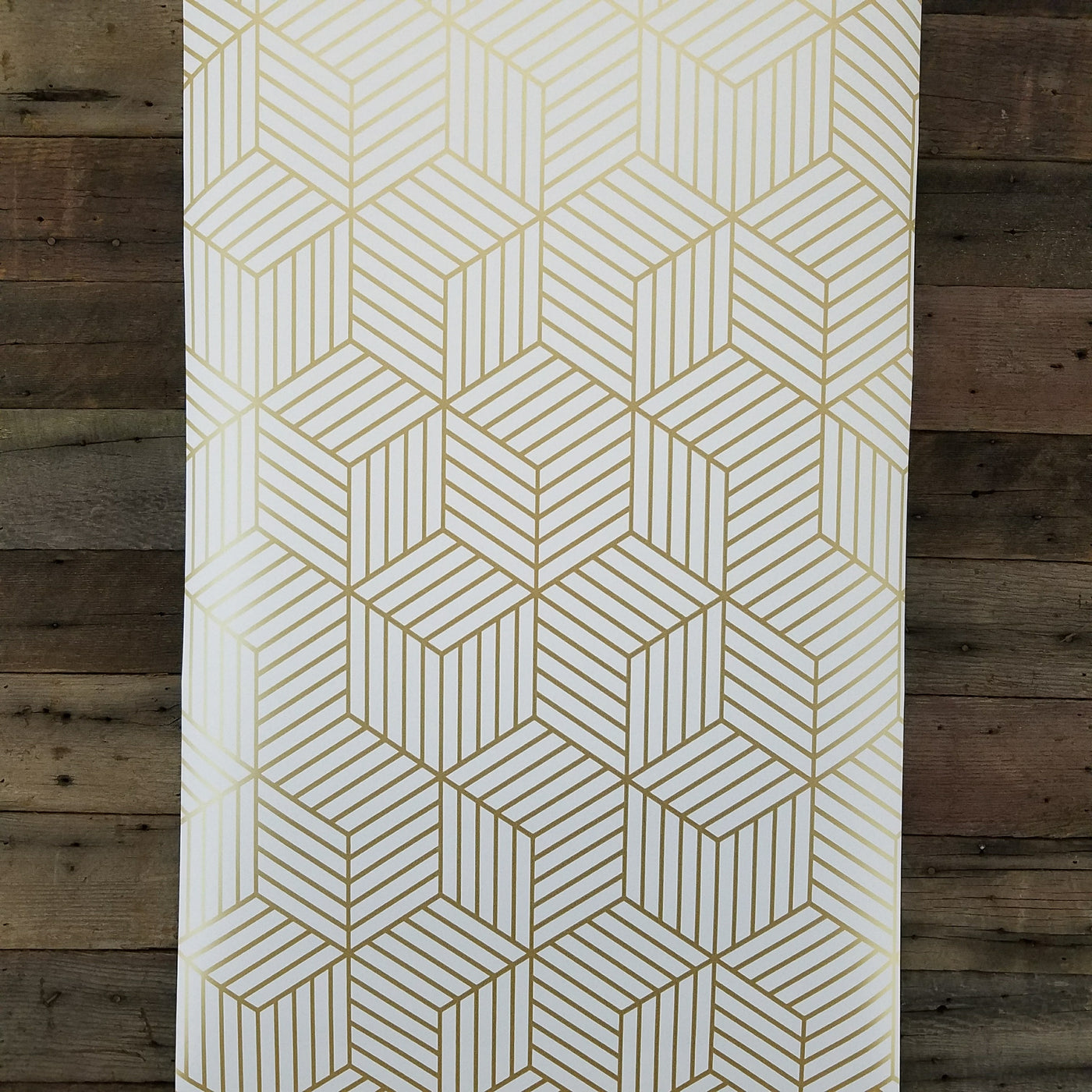 Picture of: Geometric Gold Hexagon Peel And Stick Mid Century Modern Wallpaper Rmk10704wp D Marie Interiors