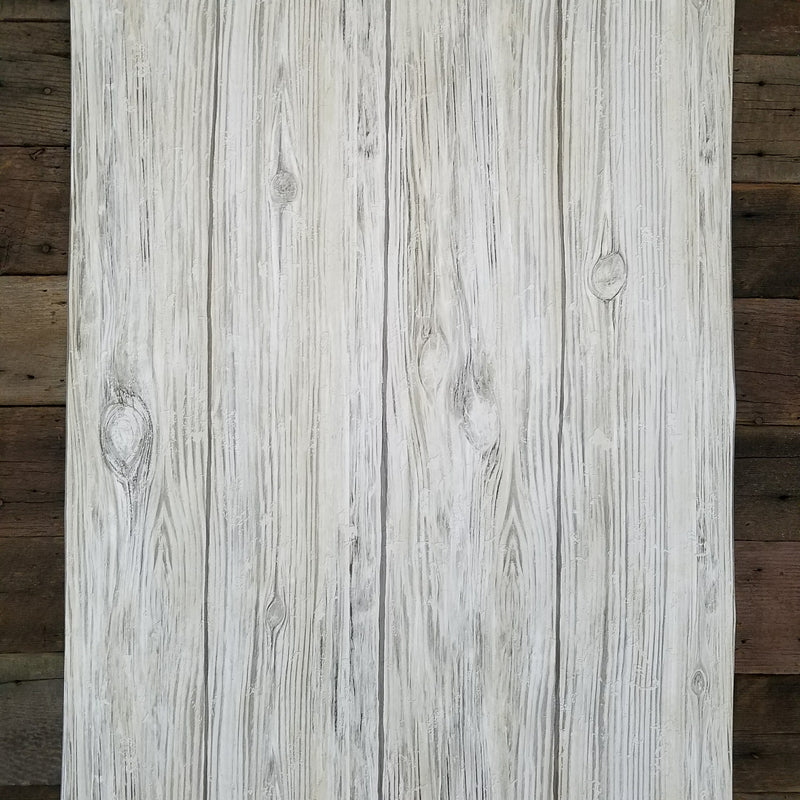 Gray Distressed Shiplap Rustic Wood Peel and Stick Wallpaper