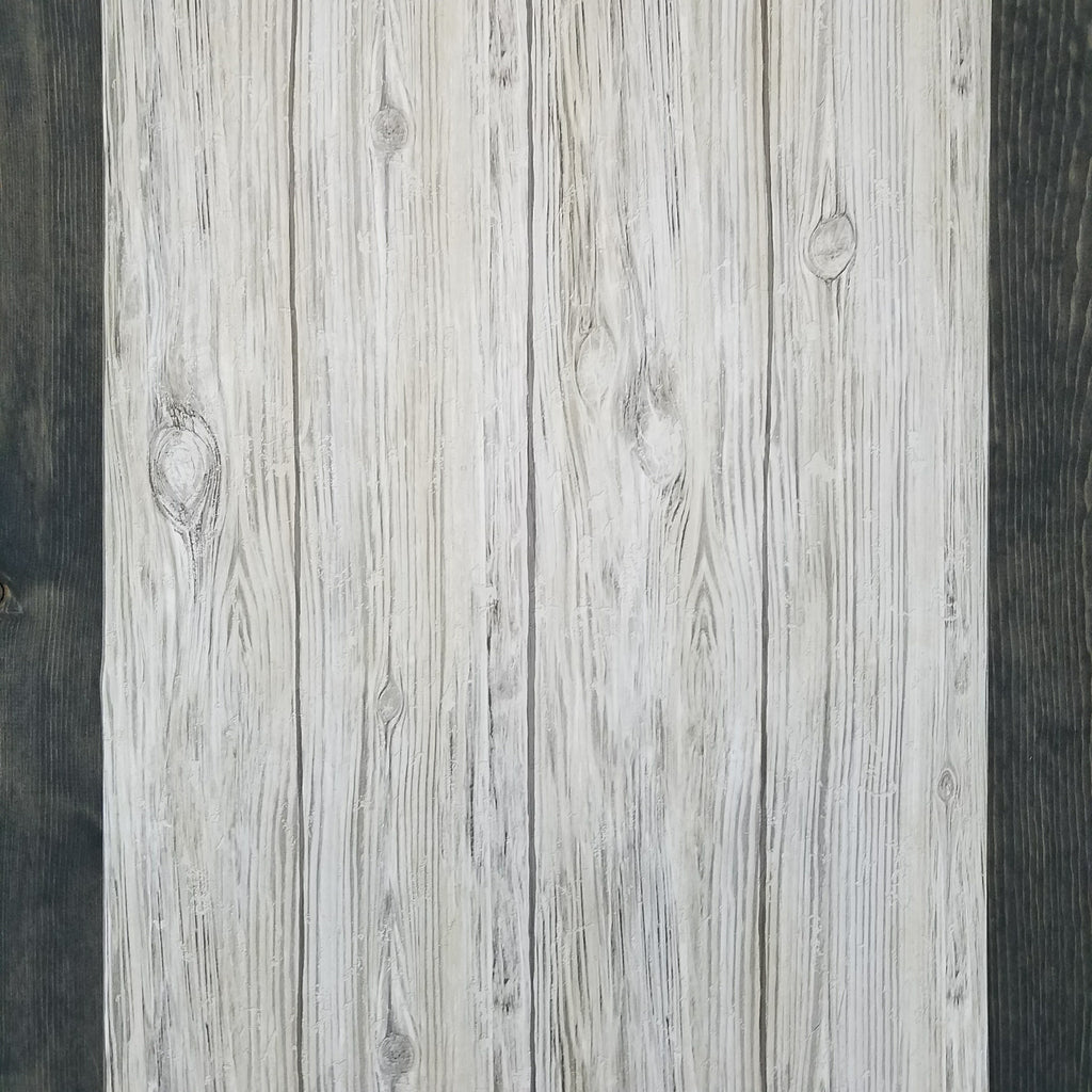 RoomMates Gray Distressed Shiplap Rustic Wood Peel And Stick Wallpaper