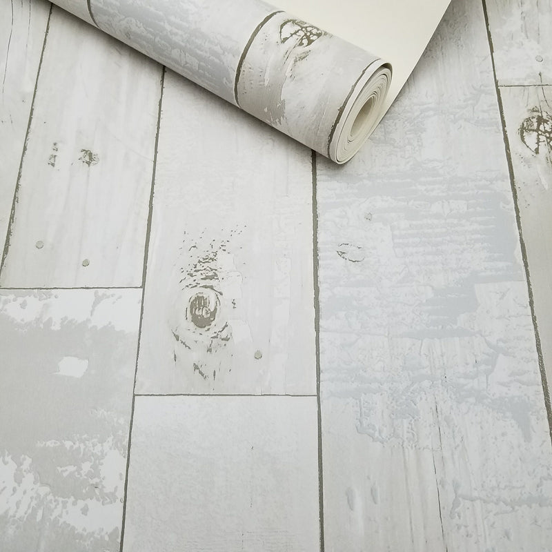 Ashwile Cream Wood Rustic Texture Wallpaper