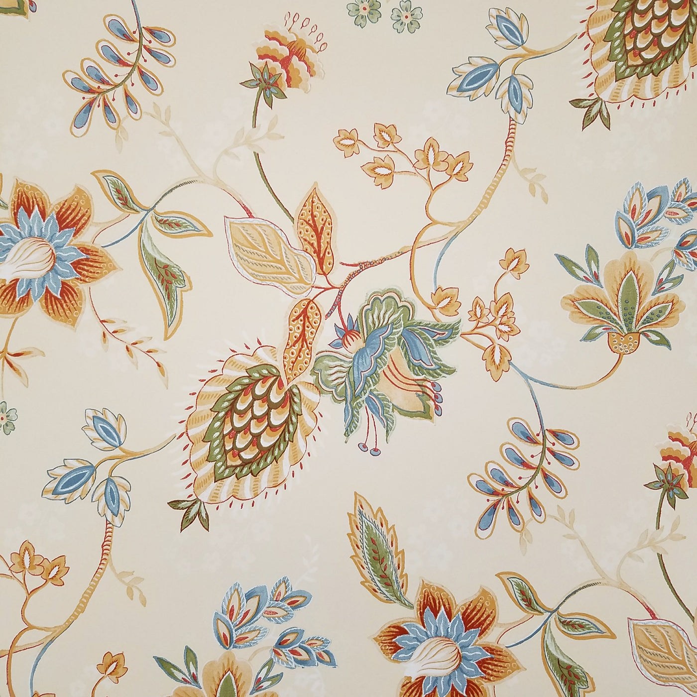 Richly Colorful Contemporary Jacobean Wallpaper